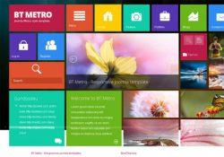 Template Joomla 3X giao diện Win 8 BT Metro
