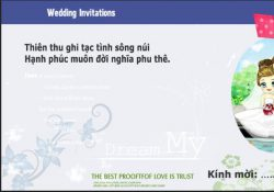 Mẫu thiệp cưới facebook photoshop PSD