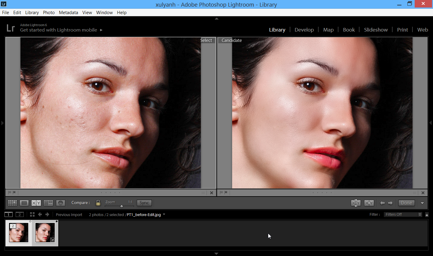 lightroom bang portraiture
