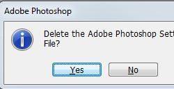 Thiết lập lại các giá trị trong Photoshop về mặc định