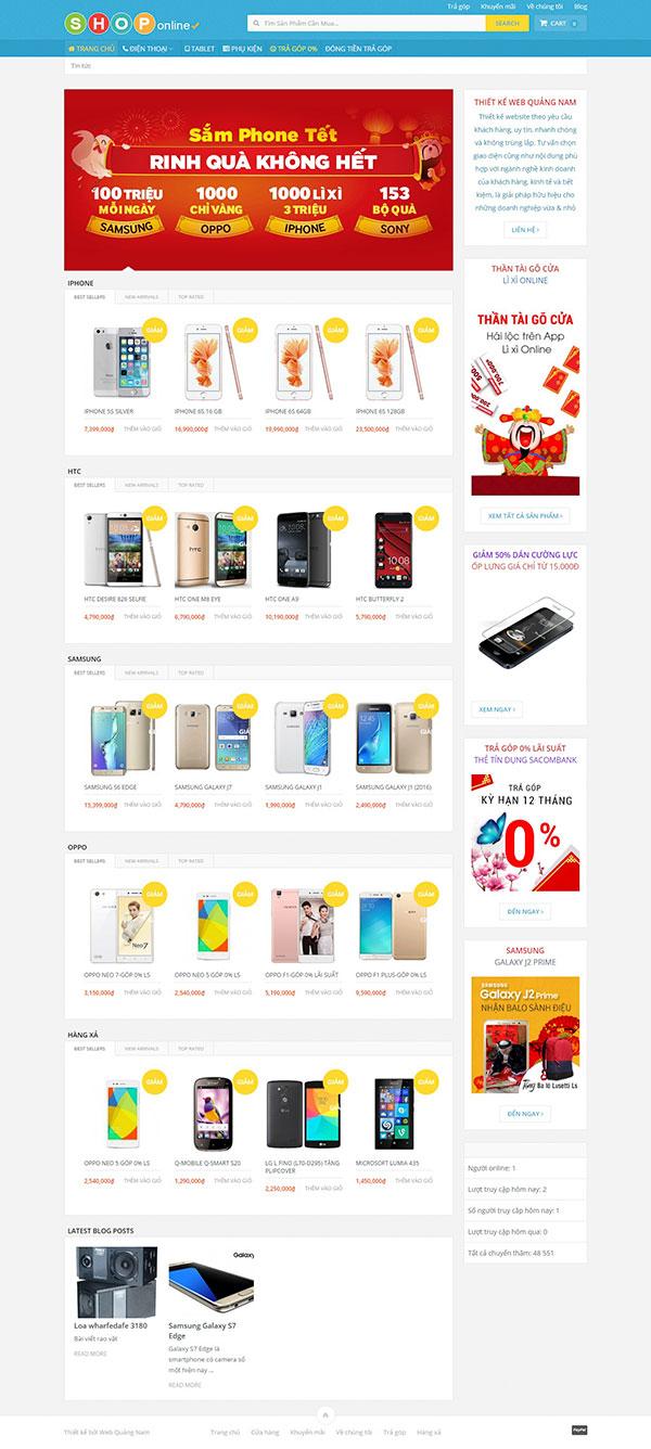 Mẫu web bán hàng BH01