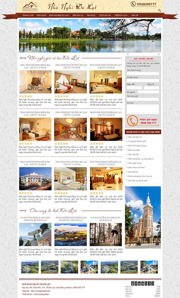 Mẫu website du lịch DL01