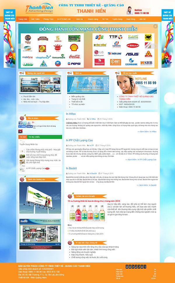 Mẫu web giới thiệu công ty GT02