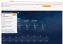 Giới thiệu widget hiển thị thời tiết cho wordpress