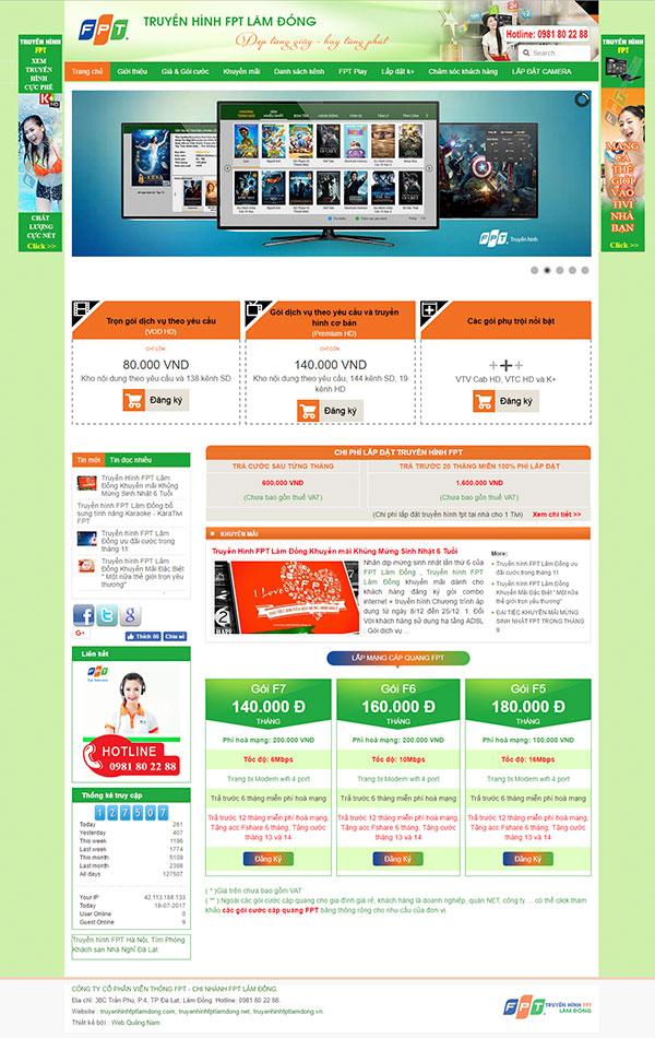 Mẫu web giới thiệu công ty GT01