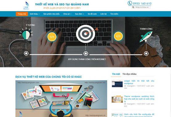 Mẫu web giới thiệu công ty GT03