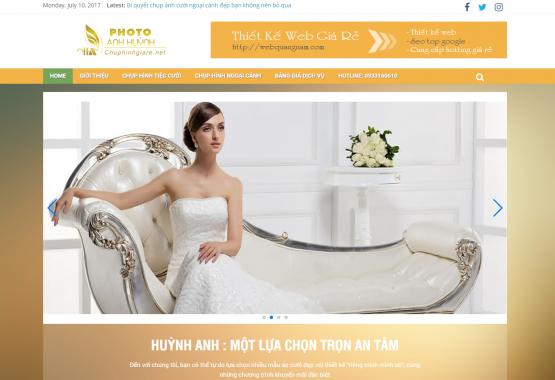 Giới thiệu theme wordpress wedding thích hợp cho web áo cưới và web công ty