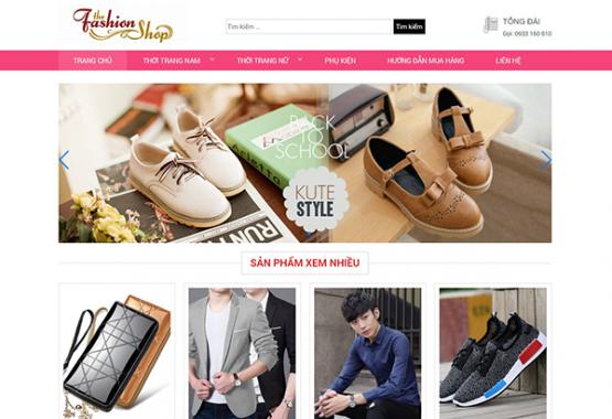 Mẫu web giới thiệu sản phẩm BH02