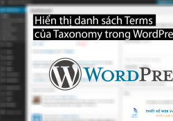 Hiển thị danh sách Terms của Taxonomy trong WordPress