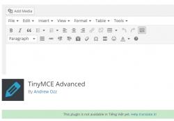 Plugin mở rộng trình soạn thảo cho wordpress TinyMCE Advanced