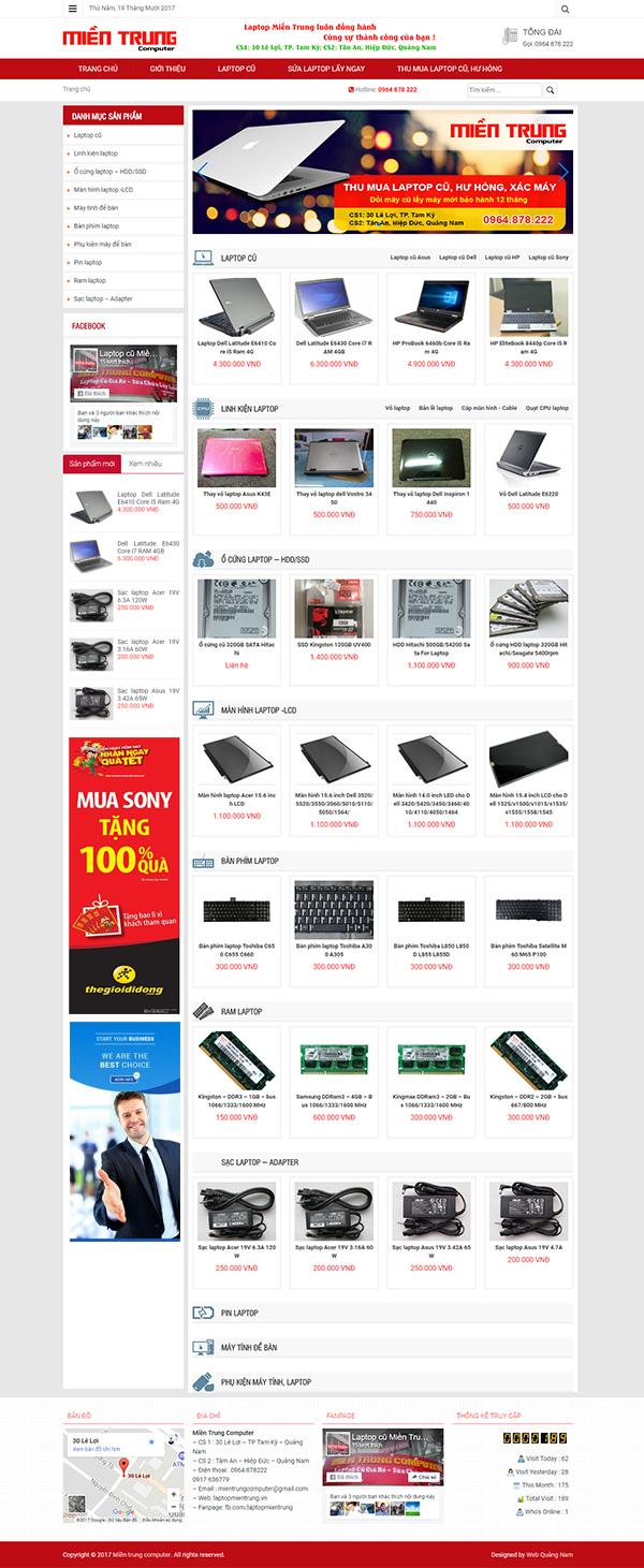 Mẫu web bán hàng BH03