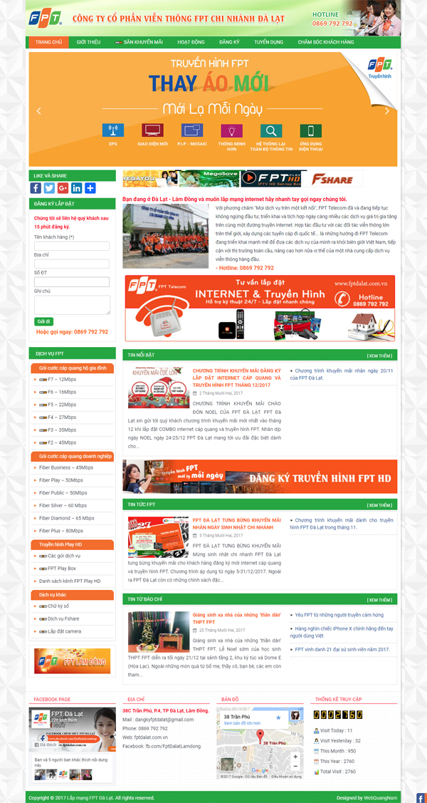 Mẫu web giới thiệu công ty GT06