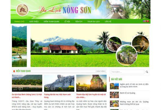 Mẫu web du lịch Nông Sơn Quảng Nam