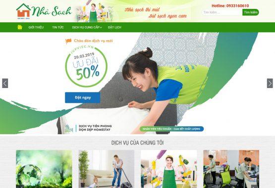 Mẫu web dịch vụ vệ sinh nhà cửa