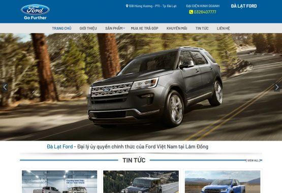 Mẫu web mua bán xe ô tô