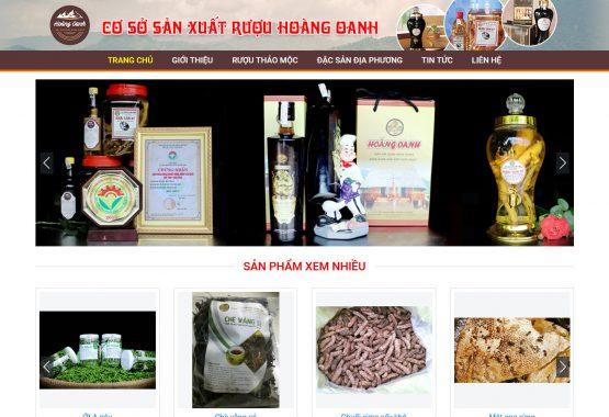 Mẫu web bán hàng nông lâm sản