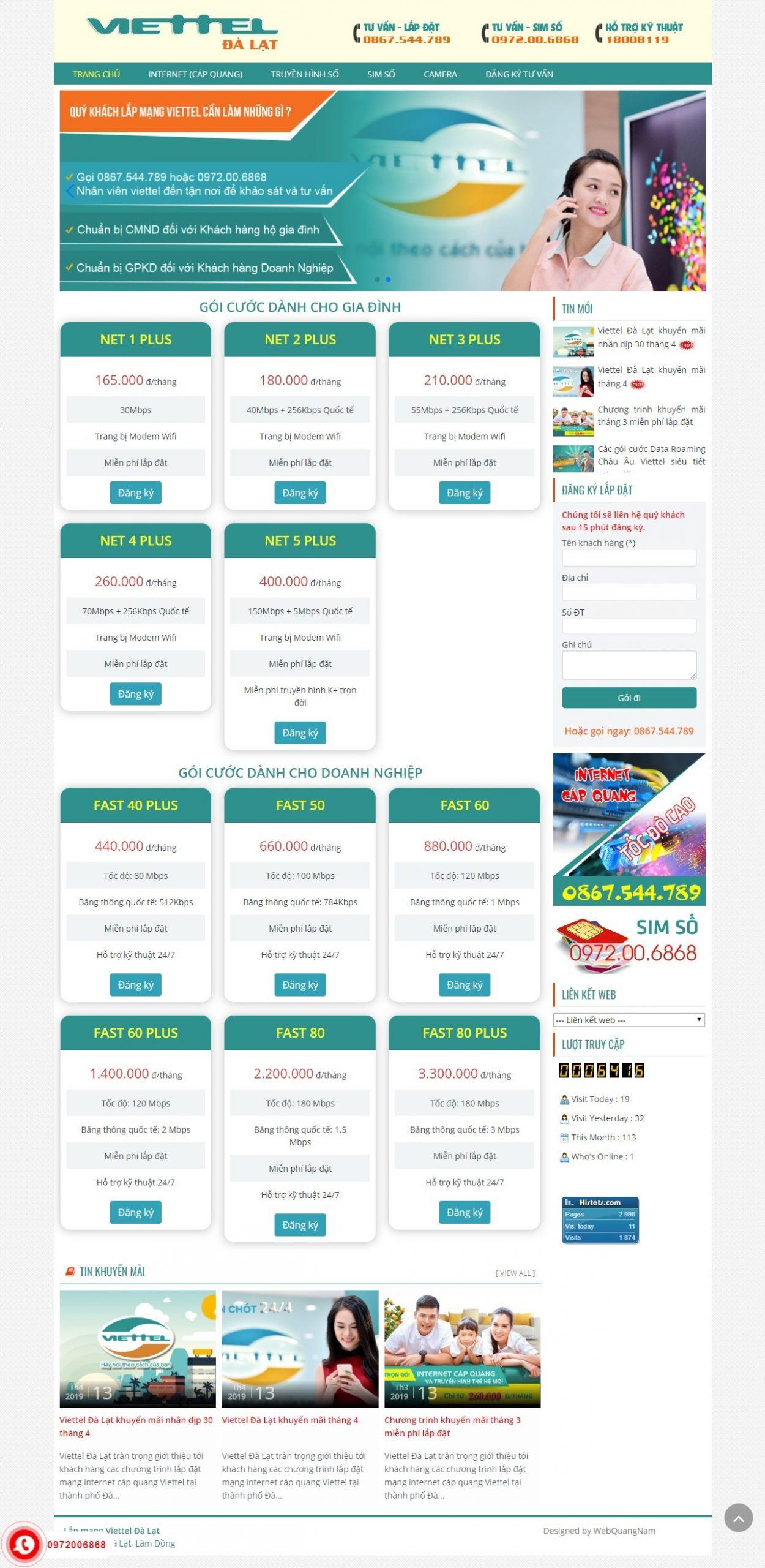 Website viettel Đà Lạt