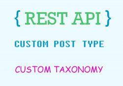 REST API khai báo đường dẫn api cho custom post types và taxonomy wordpress