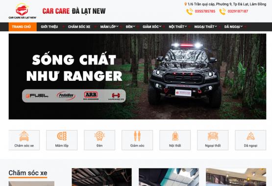 """Mẫu web """"độ xe"""", web bán hàng"""